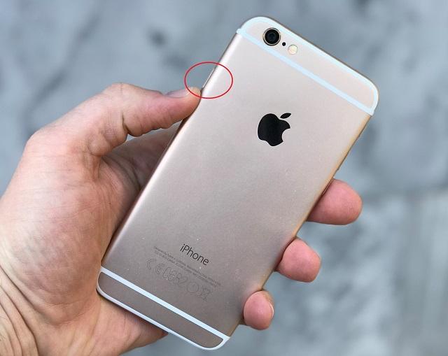 Рис. №2. Кнопка блокировки на iPhone 6
