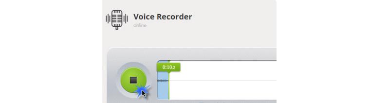 Запись звука на сайте Online Voice Recorder